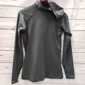 Nike pro medium grey pullover hooded